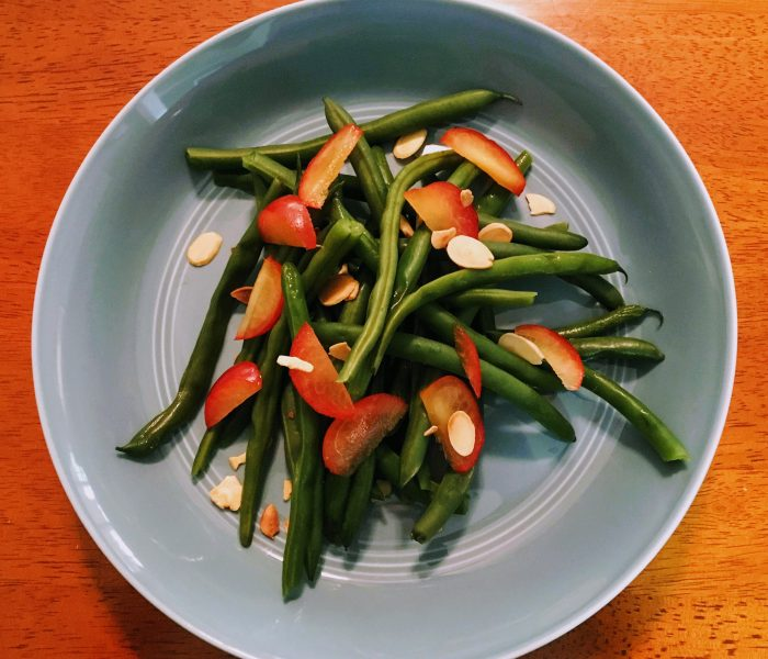 Green Beans, Cherry Plums, & Toasted Almonds